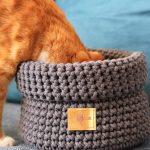 www.themisscat.pl THE MISS CAT koszyk na zabawki dla kota cat blanket dog blanket cotton playbox smoked pearl