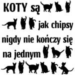 www.themisscat.pl THE MISS CAT naklejka z kotem 30×30 koty są jak chipsy