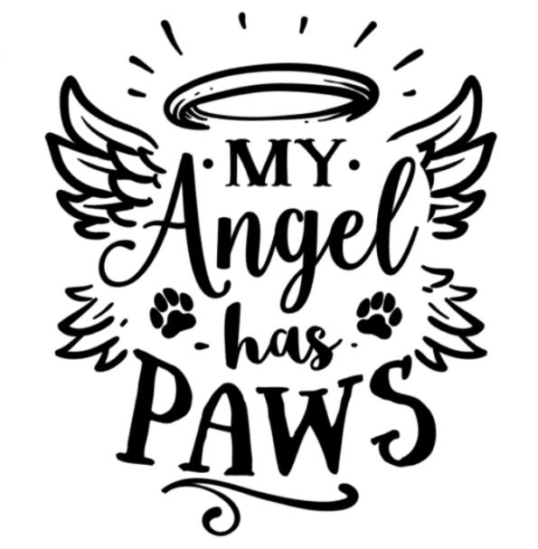 www.themisscat.pl THE MISS CAT naklejka z kotem 30×30 my angel has paws
