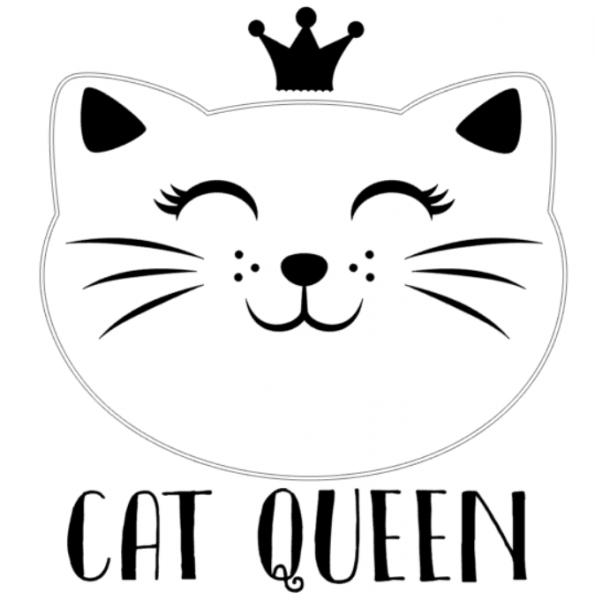 www.themisscat.pl THE MISS CAT naklejka z kotem CAT QUEEN