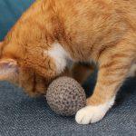 piłeczka CLASSIC BALL THE MISS CAT bordowa zabawka dla kota