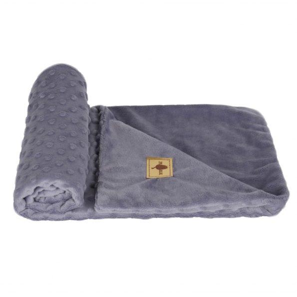 www.themisscat.pl THE MISS CAT kocyk dla kota psa cat blanket dog blanket CHILL OUT light grey