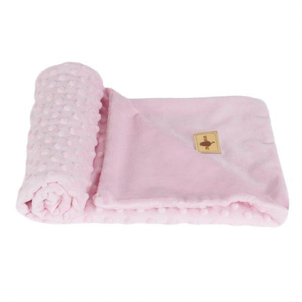 www.themisscat.pl THE MISS CAT kocyk dla kota psa cat blanket dog blanket CHILL OUT light pink
