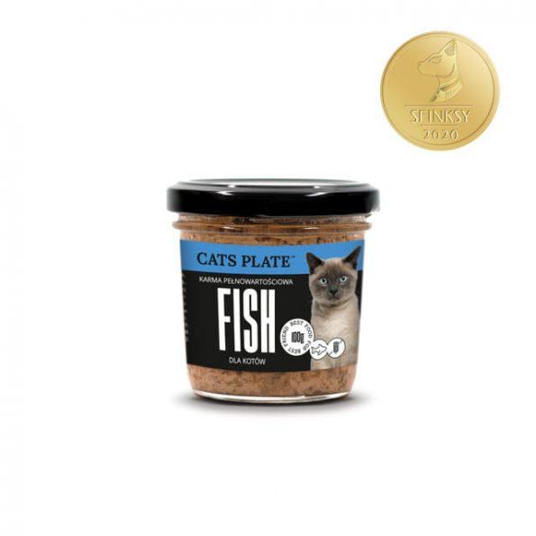 Dogs Plate Cats Plate mokra karma pełnoporcjowa dla kotów 100g – dorsz (1)