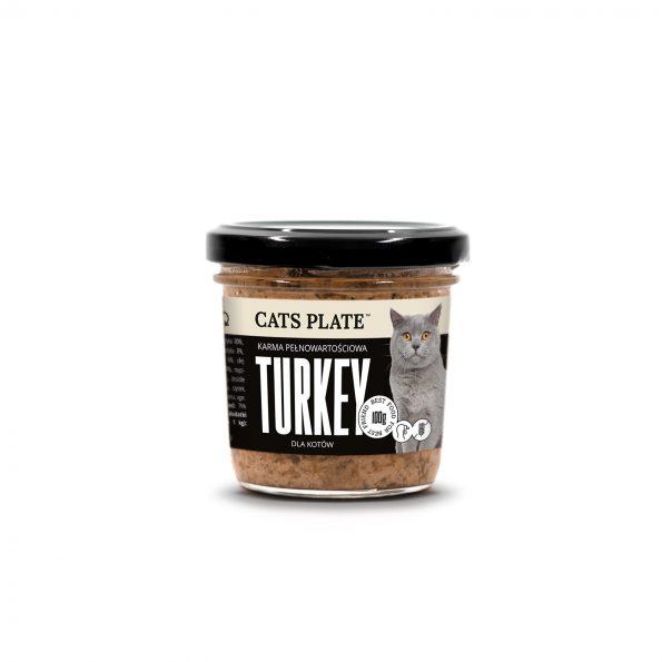 Dogs Plate Cats Plate mokra karma pełnoporcjowa dla kotów 100g – indyk