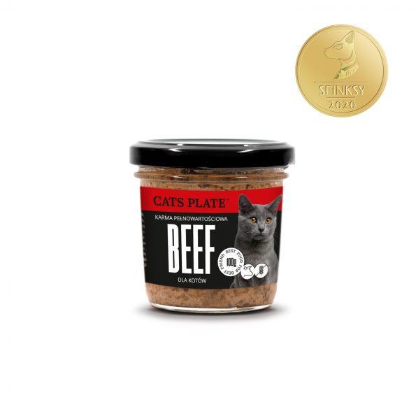 Dogs Plate Cats Plate mokra karma pełnoporcjowa dla kotów 100g – wołowina (1)