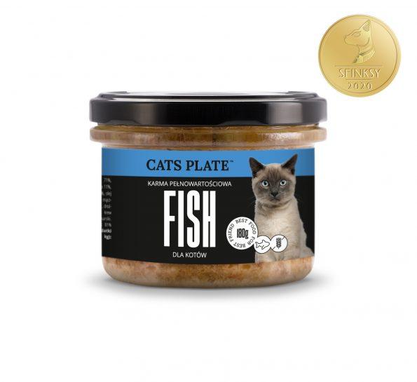 Dogs Plate Cats Plate mokra karma pełnoporcjowa dla kotów 180g – dorsz (1)
