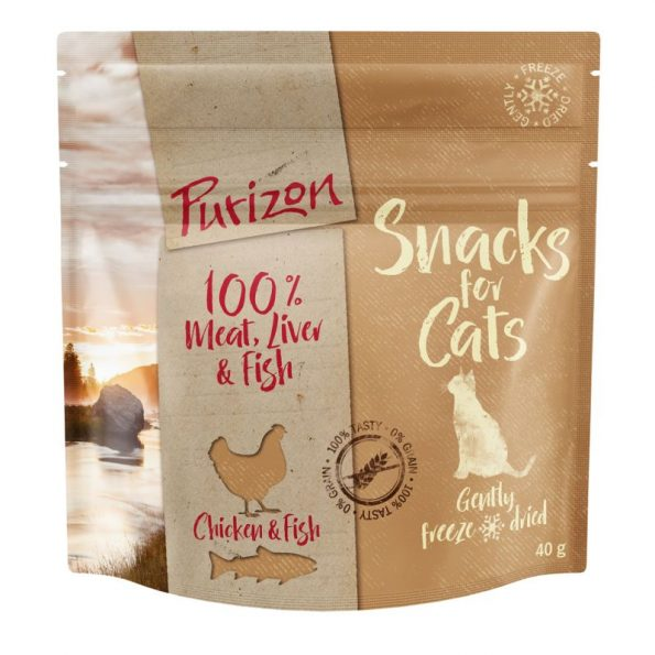 Naturalne przyskamki dla kota PURIZON SNACKS FOR CAT – kurczak i ryba (1)
