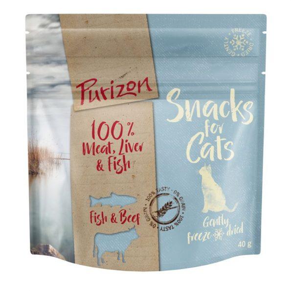 Naturalne przyskamki dla kota PURIZON SNACKS FOR CAT – ryba i wołowina (1)
