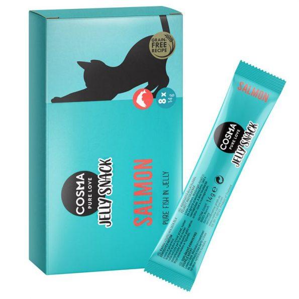 Naturalne przysmaki dla kota Cosma Jelly łosoś(1)