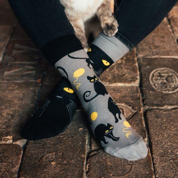 Skarpetki dla kociary z kotami – Kocie oczy (2)