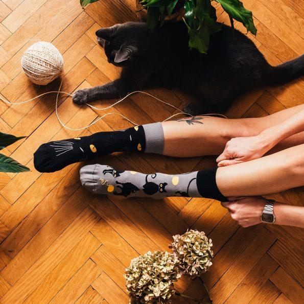Skarpetki dla kociary z kotami – Kocie oczy (3)