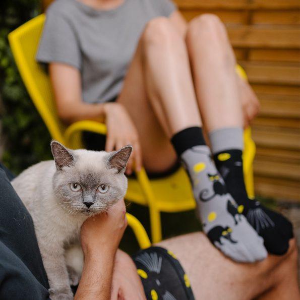 Skarpetki dla kociary z kotami – Kocie oczy (4)