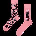 Skarpetki dla kociary z kotami – Różowe koty (1)