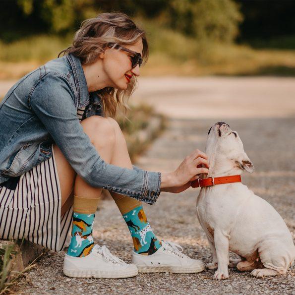 Skarpetki dla psoary z psami -Psi przyjaciele (3)