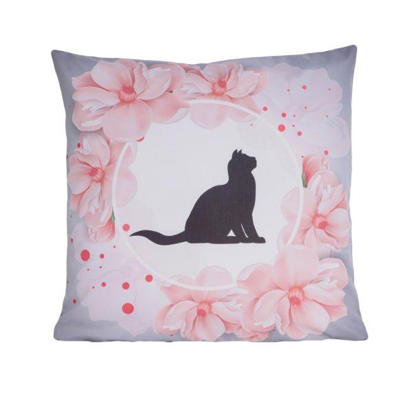 www.themisscat.pl THE MISS CAT poduszka z kotem cat pillow Kot nadaje domowi duszę przód