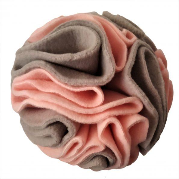 @ kula węchowa 16 cm polarowa szro-różowa