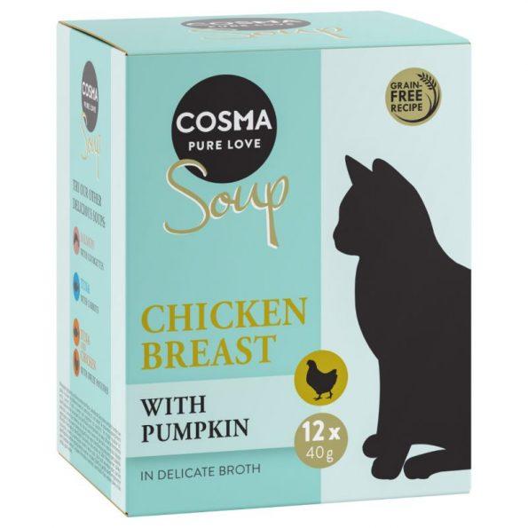 Naturalne przysmaki dla kota Cosma SOUP pierś kurczaka z dynią cosma_soup_tuna_carrot_bundle_9_cosma_soup_chicken (1)