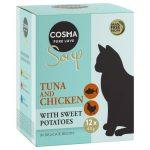 Naturalne przysmaki dla kota Cosma SOUP tuńczyk i kurczak z batatami cosma_soup_tunachicken_12x40g_3 (2)