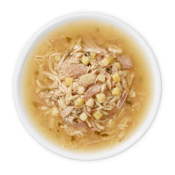 Naturalne przysmaki dla kota Cosma SOUP tuńczyk i kurczak z batatami cosma_soup_tunachicken_12x40g_3 (5)