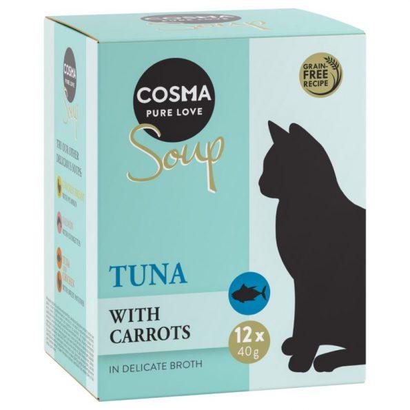 Naturalne przysmaki dla kota Cosma SOUP tuńczyk z marchwią (2)_cosma_soup_tuna_carrot_bundle