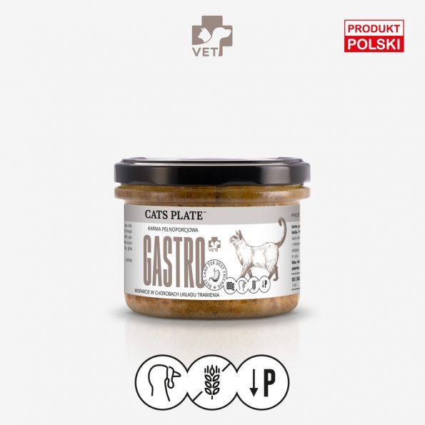 Cats Plate Vet Gastro – mokra, specjalistyczna karma dla kotów z chorobami układu trawienia